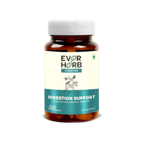 Everherb Digestion Support - Blend Of 11 Powerful Herbs - Gut Protector Tablet - Bottle Of 60 Capsules