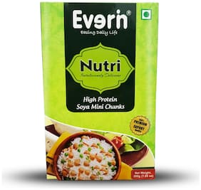 Everin Nutri High Protein and Healthy Soya Mini Chunks Combo 200g (Pack of 10)