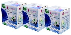 Everteen Premium Large Sanitary Napkins with 100% Cotton  Pack of 3 (8pcs each)