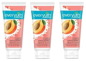 Everyuth Naturals Gentle Exfoliating Apricot Scrub For Sensitive Skin 50G Pack Of 3