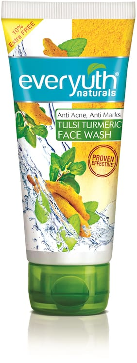 Everyuth Naturals Anti Acne Anti Marks Tulsi Turmeric Face Wash 150G + 15G Extra