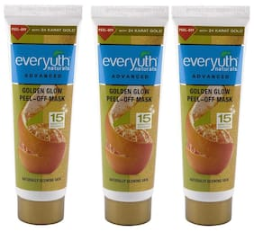 Everyuth Naturals Advanced Golden Glow Peel-off Mask With 24K Gold 90 gm Pack of 3