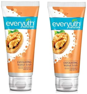 Everyuth Naturals Exfoliating Walnut Scrub With Nano Multi Vit A 200G Pack Of 2