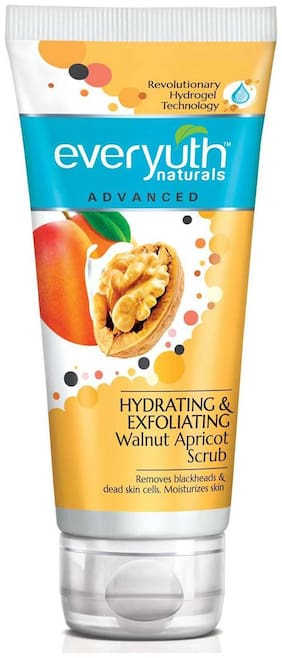Everyuth Naturals Advanced Hydrating & Exfoliating Walnut Apricot Scrub With Hydrogel Technology 100G