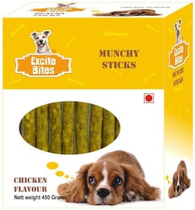 Excite Bites Chicken Flavor Munchy Sticks - 450 grm Dog Chew Sticks
