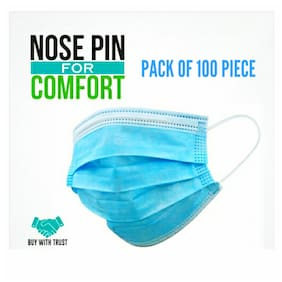 Extra Bass Disposable Surgical 3 Ply Mask ( Pack of 100 )