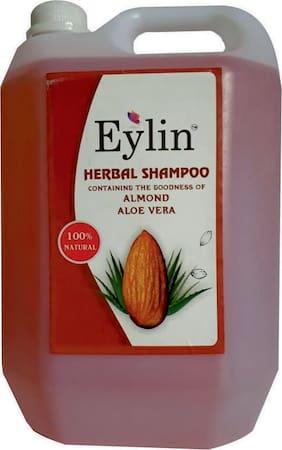 EYLIN : HERBAL SHAMPOO : ALMOND/ALOEVERA  EXTRACTS, COLOR -ORANGE,  PERFUME- CLEAN PLUS, 5 L