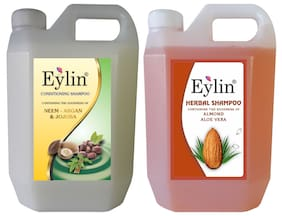 Eylin Soft Care Shampoo Combo Almond/Aloe Vera Shampoo 1L And Neem Argan And Jajoba Conditioning 1L (Pack of 2)