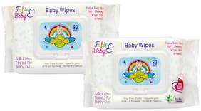 Fabie Baby, Baby Wipes 80 Wipes Each (Pack Of 2)