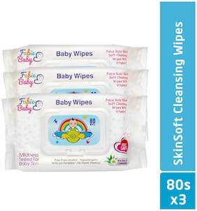 Fabie Baby, Baby Wipes 80 Wipes (Pack Of 3)