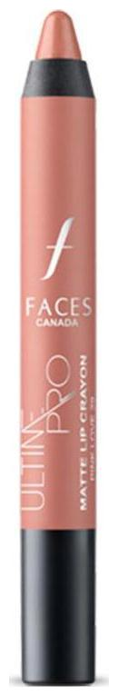Faces Ultime Pro Matte Lip Crayon Pink Love 29 2.8 g With Free Sharpener