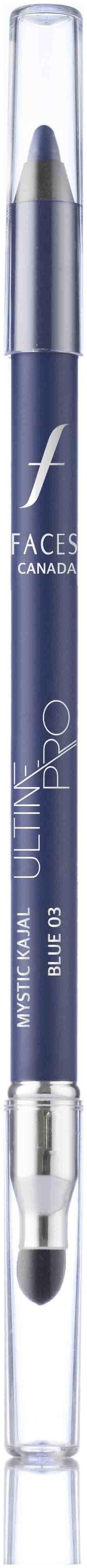 Faces Ultime Pro Mystic Kajal Blue 03 1.2 g With Free Sharpener