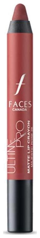 Faces Ultime Pro Matte Lip Crayon Majestic Rose 26 2.8 g With Free Sharpener