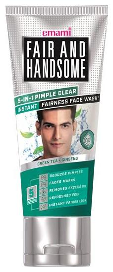 Fair And Handsome 5-in-1 Pimple Clear Instant Fairness Face Wash 50ml (Pack of 1)