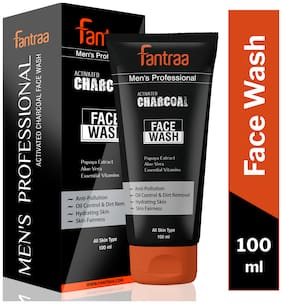 Fantraa Activated Charcoal Anti Pollution and Oil Control Face Wash - 100ml