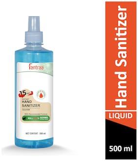 Fantraa Alcohol liquid Based Hands Sanitizer 500 ml (Pack Of 1)