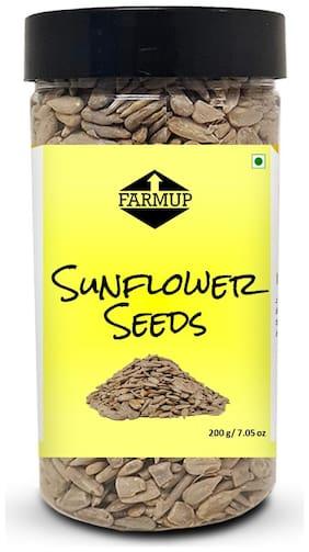 FARMUP Raw Sunflower Seeds, Protein, Fiber & Vitamin Rich Superfood 200g