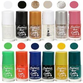 Fashion Bar Nail polish (White,black,Glitter Golden,Transperent,Glitter Silver,Pink,Light Green,Neon Orange,Blue,Glitter Green,Yellow,Green)