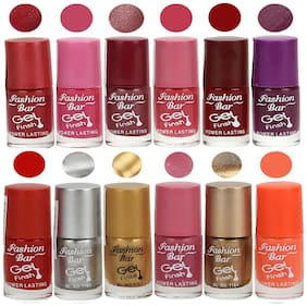 Fashion Bar Nail polish (Shimmer Red,Light Pink,Shimmer Purple,Pink,Red,Purple,Neon Red,Silver,Golden,Shimmer Pink,Copper,Neon Orange)