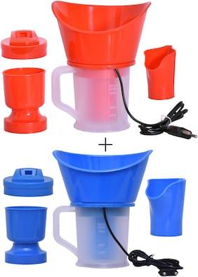 Fast Delight 4 in 1 Steam Vaporizer, Nose Steamer, Cough Steamer, Nozzle Inhaler & Nose Vaporiser Bottle Warmer Color (Pack of 2)