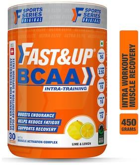 Fast&Up BCAA Ultra Granulation Technology with 5000 mg 2:1:1 BCAA Blend (450 g, Lime & Lemon)