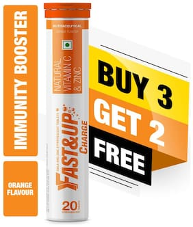 Fast&Up Charge Immunity Booster Tubes Combo (Buy 3 Get 2 Free)
