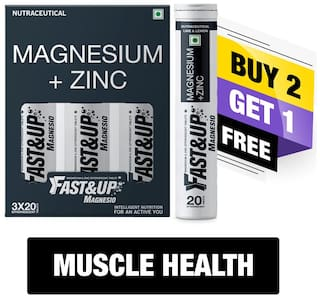 Fast&Up Magnesio Muscle Health Pack Combo (Buy 2 Get 1 Free)