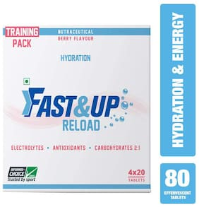 Fast&Up Reload (Electrolytes) for Instant Energy & Hydration Sports Drink - Berry (80 Tablets)