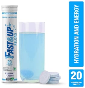 Fast&Up Reload (Electrolytes) for Instant Energy & Hydration Sports Drink - Blueberry 100 g