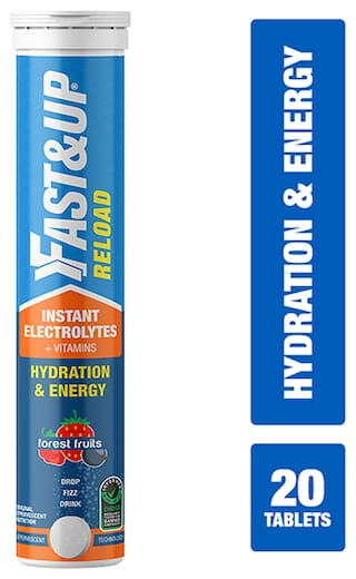 Fast&Up Reload electrolyte energy and hydration drink - 20 effervescent tablets - forest fruits flavour