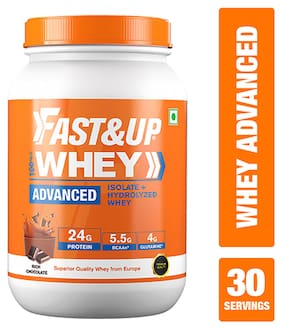 Fast&Up Whey Advanced   Isolate + Hydrolysed Whey, Rich Chocolate Flavour -  30 Servings