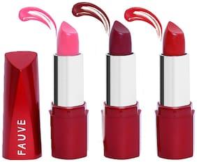 Fauve Creamy Matte Lipstick Pack of 3 (4.5 g x 3)