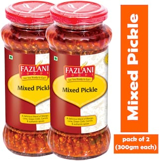 FAZLANI FOODS Mixed Pickle (Pack of 2) (300g each)