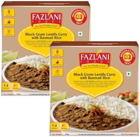 Fazlani Foods Ready To Eat Dal Makhani With Basmati Rice (Pack Of 2, 300g Each)