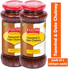 FAZLANI FOODS Tamrind & Date Chutney (Pack of 2) (350gm each)