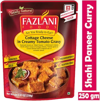 Fazlani Foods Ready To Eat Shahi Paneer (Cottage Cheese In Tangy Tomato Sauce) Curry, (Pack Of 1, 250g)