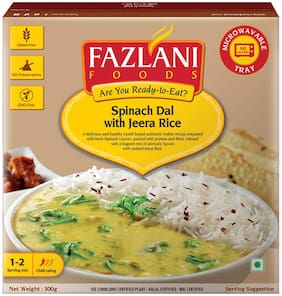 Fazlani  Foods Ready to Eat Spinach Dal with Jeera Rice (300 g)