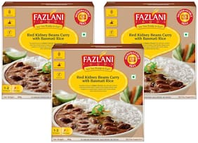 Fazlani Foods Ready To Eat Rajma Masala With Basmati Rice (Pack Of 3, 300g Each)