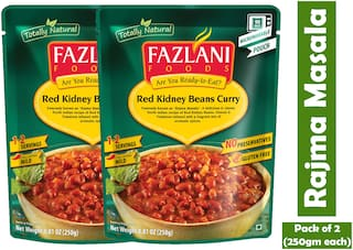 Fazlani Foods Ready To Eat Rajma Masala (Red Kidney Beans) Curry, (Pack Of 2, 250g Each)