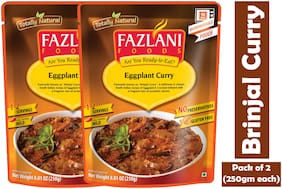 Fazlani Foods Ready To Eat Brinjal (Eggplant) Curry, (Pack Of 2, 250g Each)