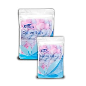 Femiss cotton balls (1x100pcs)(1x50 pcs) (Pack of 2)