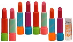 FIRSTZON  COLOURED LIP BALM LIPSTICK Pack of 8