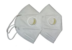 FITMOVE Anti Pollution Masks KN95 Mask (Pack of 2)
