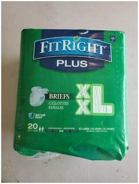 """FITRIGHT ULTRA ADULT BRIEFS WITH TABS MODERATE ABSORBENCY XXL 60""""- 69"""" 20 PK"""
