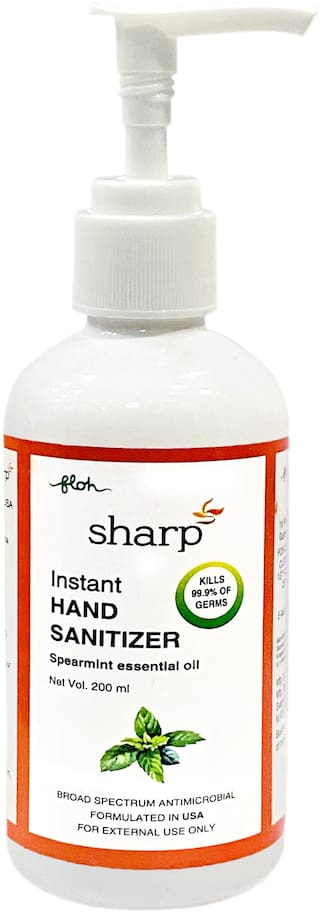 FLOH Sharp Instant Hand Sanitizer Gel  With 70% Alcohol Based With Pump 200 ml(Pack of 2 )