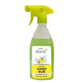 FLOH Sharp Instant Hand Rub Sanitizer With Lemon Flavor & 70% Alcohol | Alcohol Based Hand Sanitizer;500 Ml Spray Bottle