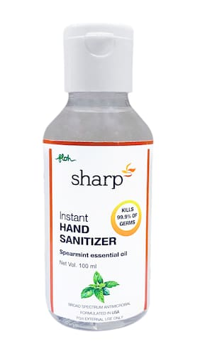 FLOH Sharp Instant Hand Sanitizer Gel With Spearmint Flavor & 70% Alcohol Based 100ml (Pack of 1)