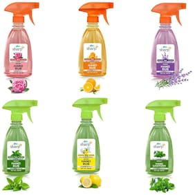 FLOH Sharp Instant Hand Rub Sanitizer With 6 flavors 500 ml Each  (Pack Of 6)