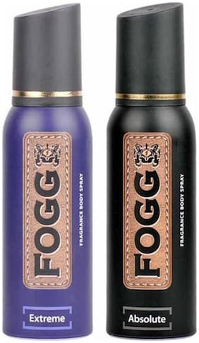 Fogg Absolute & Extreme BodySpray (pack of 2) - 120 ml each