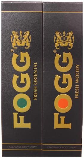 Fogg Combo Pack (Fresh Oriental + Fresh Woody) Fragrance Body Spray - 300ml